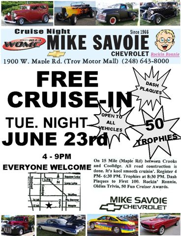 mike savoie chevrolet cruise in. Cars Review. Best American Auto & Cars Review