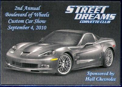 Street Dreams Corvette Club 2nd Annual Boulevard Of Wheels Car Show  Saturday, September 4, 2010. Hall Chevrolet Western Branch Chesapeake, VA