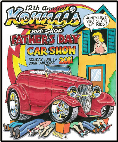 Th Annual Kennys Rod Shop Fathers Day Car Show - Boise car show father's day