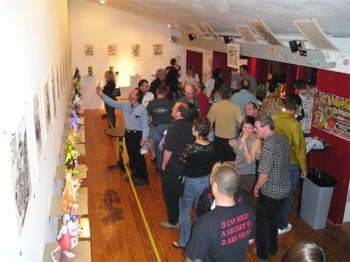 A crowded Gallery on Opening Night