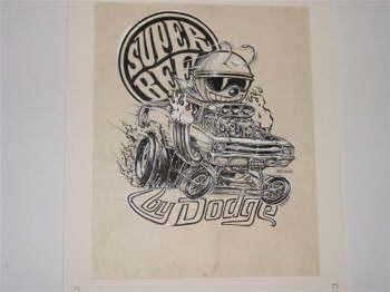 Original Big Daddy Ed Roth artwork