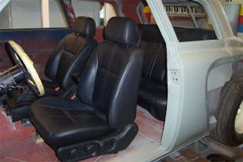 Leather seats.