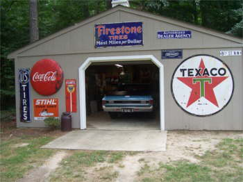Back garage where I keep my 1970 El Camino.