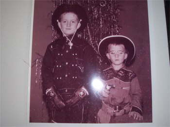 Christmas 1953, I'm the tall Hop-a-long Cassity.