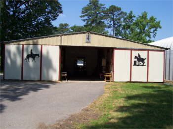 Our Barn. We showed horses for 30 years. Now we are down to one horse.
