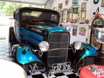 Betty's 1932 Ford Coupe, a gift from Spencer.