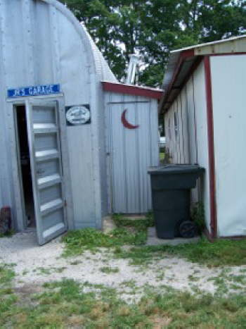 Our air compressor room looks like an outhouse