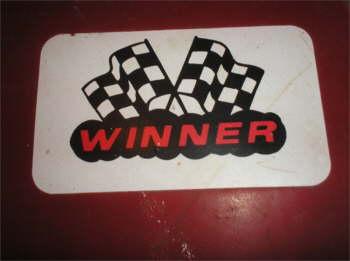 race car  winner