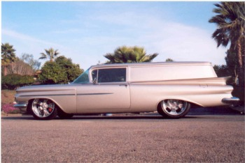 1959 Chevrolet Winged Express left side