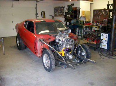 i found a 1976 celica for sale with no motor so i bought it i then went to a mustang wrecking yard and bought a complete 67 mustang front end and rear