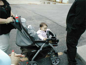 Angelina even enjoyed lookin at all the neat cars