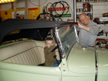 Mikael and his son rasmus new rodder