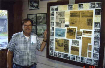 Taken at Gene Howard's old body shop where Truly Rare was built & Gene is next to the memorial in his office!