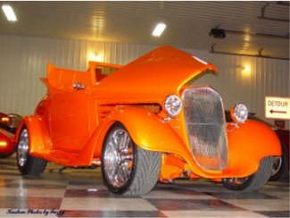 Larry's 35 Chevy 3/4 view