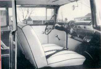 Fuzzys 1956 Chevy Interior Shot