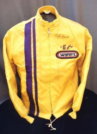 """C. J. """"Pappy"""" Hart's autographed jacket."""