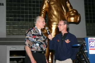 A Close Up of Leon Fitzgerald and Bob Frey.