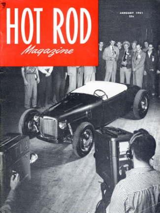 January, 1951 issue of Hot Rod Magazine