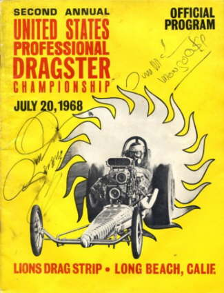 Lion's Drag Strip program from the U.S. Professional Dragster Championship in 1968