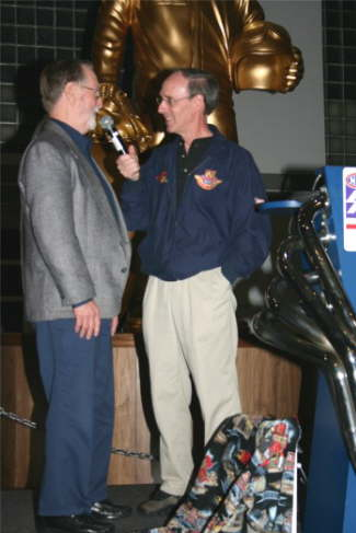 Drag racing photographer Dave Wallace Sr. is interviewed by NHRA Announcer Bob Frey on the occasion of being named as an Honoree for the California Hot Rod Reunion.