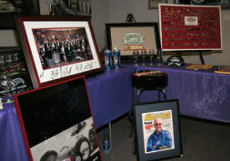 Just some of the memorabilia auctioned on Thursday at the Museum.