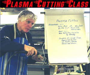 Plasma cutting module - Each topic is started with a chart presentation. The chart outline also helps old-timers minimize those senior moments.