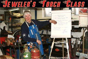 Jeweler's torch - Ward is giving the introduction to use of the jeweler's for use in thin gauge sheet metal welding.