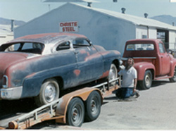 merc on a trailer