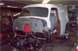 Hot Rodding a 1954 Chevy Panel Truck – Air Ride, Nova Subframe, AC, Custom Interior & Patina Paint Job.