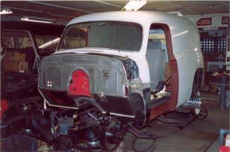 Hot Rodding a 1954 Chevy Panel Truck – Air Ride, Nova Subframe, AC, Custom Interior & Patina Paint Job.