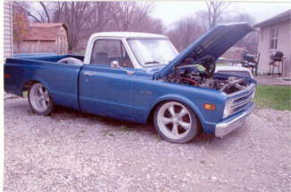 1967 Chevy Pickup – Changing & Completing Work From Another Shop For New Owner. – This Is Going To Be A Driver. Completing Project Includes Wiring, Suspension Mods, Air Ride, Sway Bars, Fabricating Front And Rear Wheel Wells. Adding AC And Custom Interior