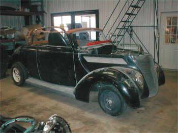 '37 Ford Convertible awaiting restoration.