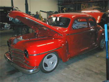 '47 Plymouth Coupe with Viper V-10 Powerplant installed by Vision.