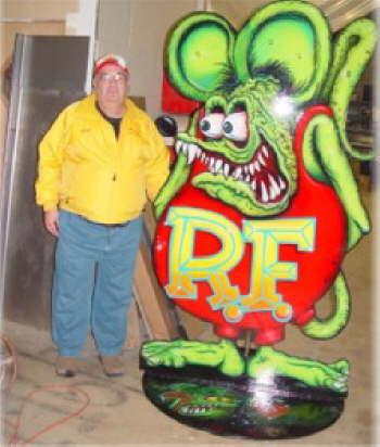 Fuzzy with Rat Fink by Jimmy Flintstone!
