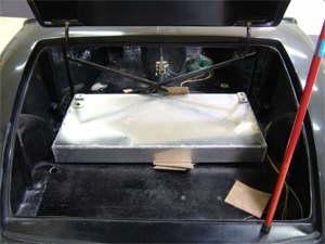 Gas tank in trunk