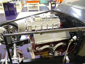 Side of motor with polished head