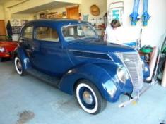 Alec & his 1937 Ford Tudor, 2010