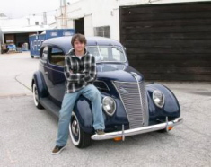 Alec & his 1937 Ford Tudor, 2010