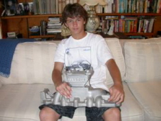 Alec with first Harrell intake manifold, 2009