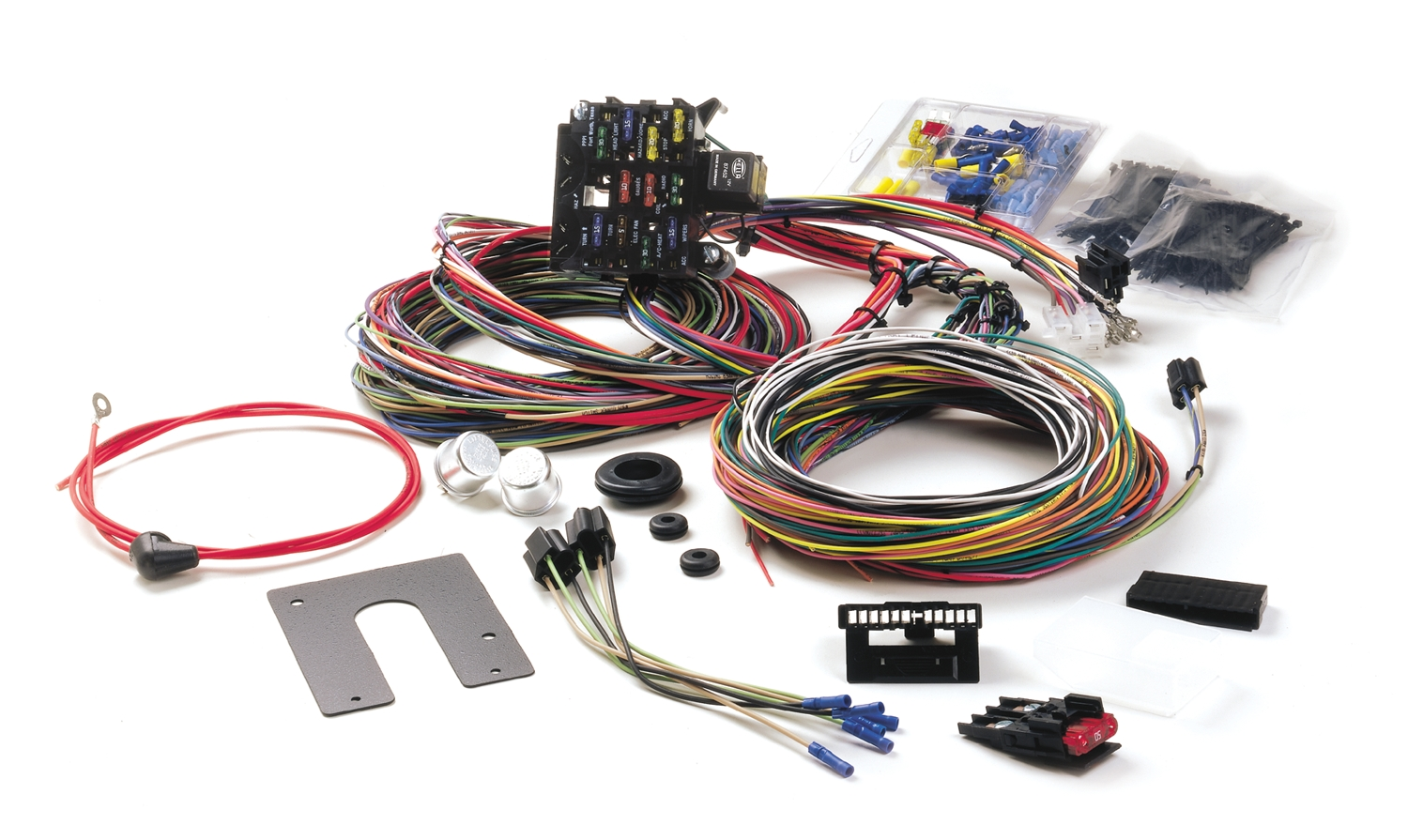painless performance harness in 39 ford rh hotrodhotline com Painless Wiring Harness Chevy Painless Complete Wiring Harness