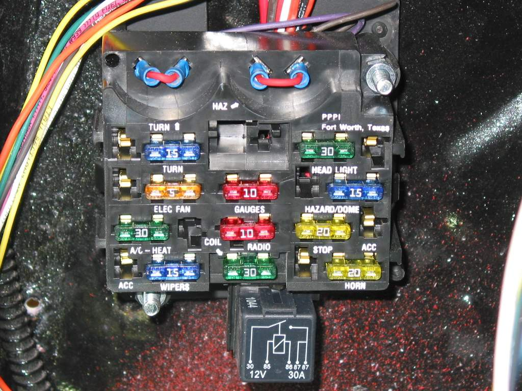 Turnsignals Painless Wiring Relay Block Since The Kit Is Designed To Be A Stand Alone Unit And Not Use Flashers In Fuse Small Jumpers Were Made Installed Into Flasher Ports