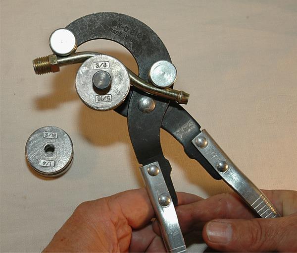 Brake Line Pliers : Flaring brake lines