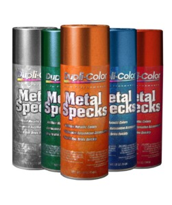Red Spray Paint Metallic Effect