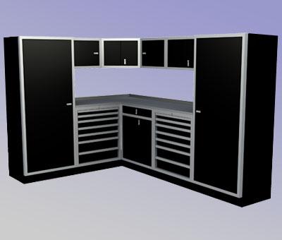 Moduline cabinents - Simple garage storage cabinets in cool structured design ...