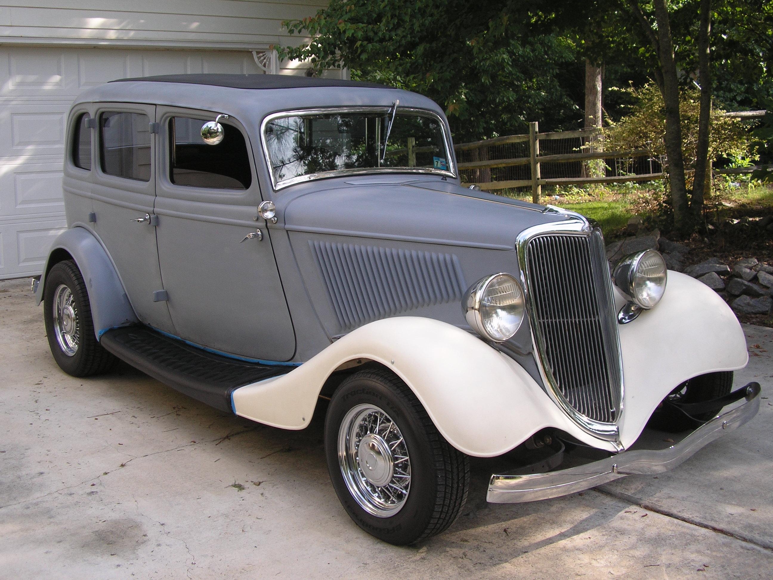 An Original All Steel 34 Ford Fordor Hotrod Hotline