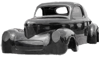 Be Bop's Glass Works Complete 1941 Willys Coupe Body Package
