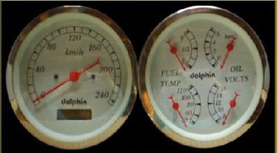 Tire Pressure Gauge >> Dolphin Gauges Metric Gauges | Hotrod Hotline