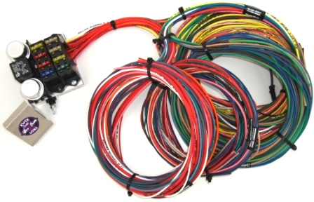 kwik wire 8 circuit street rod wiring harness hotrod hotline rh hotrodhotline com universal wiring harness with gm column Marine Engine Wiring Harness