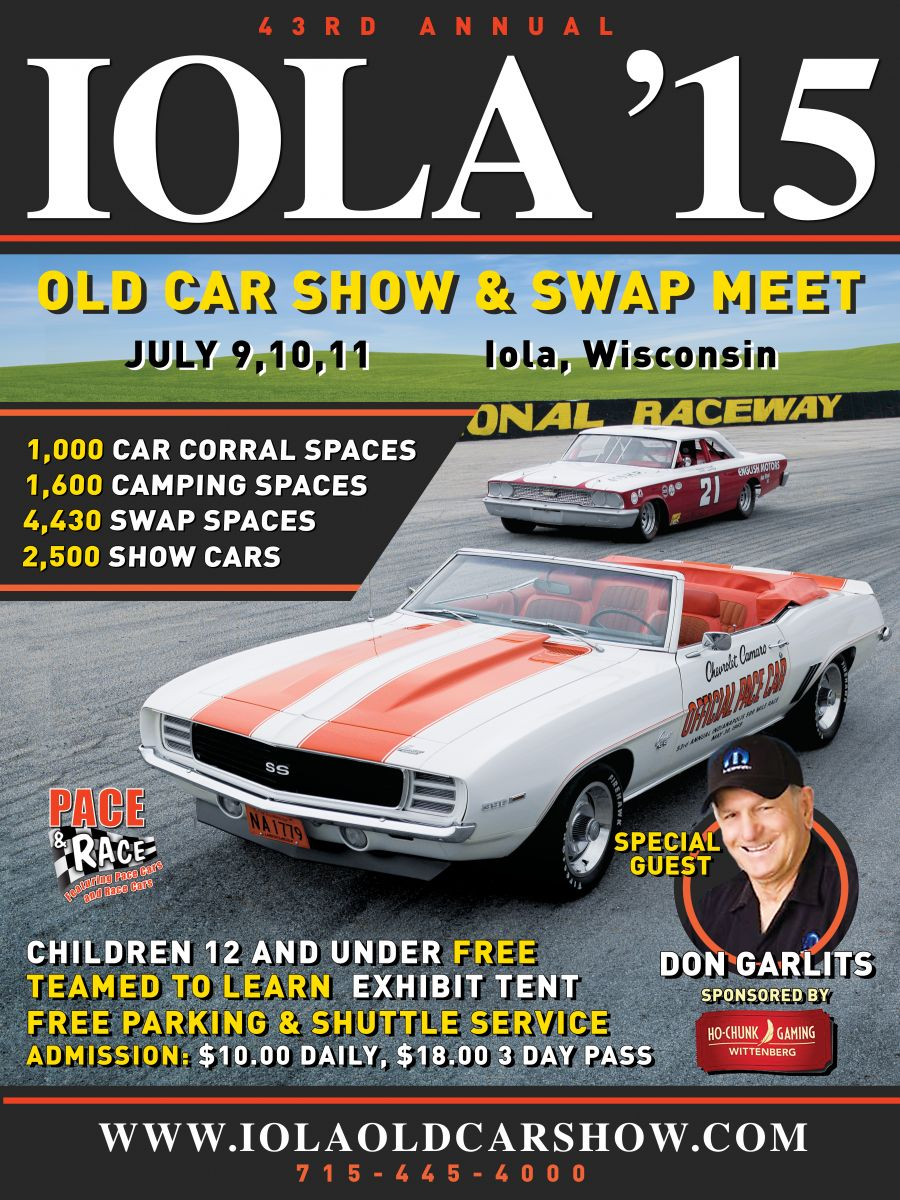 Pace And Race 43rd Annual Iola Old Car Show Hotrod Hotline