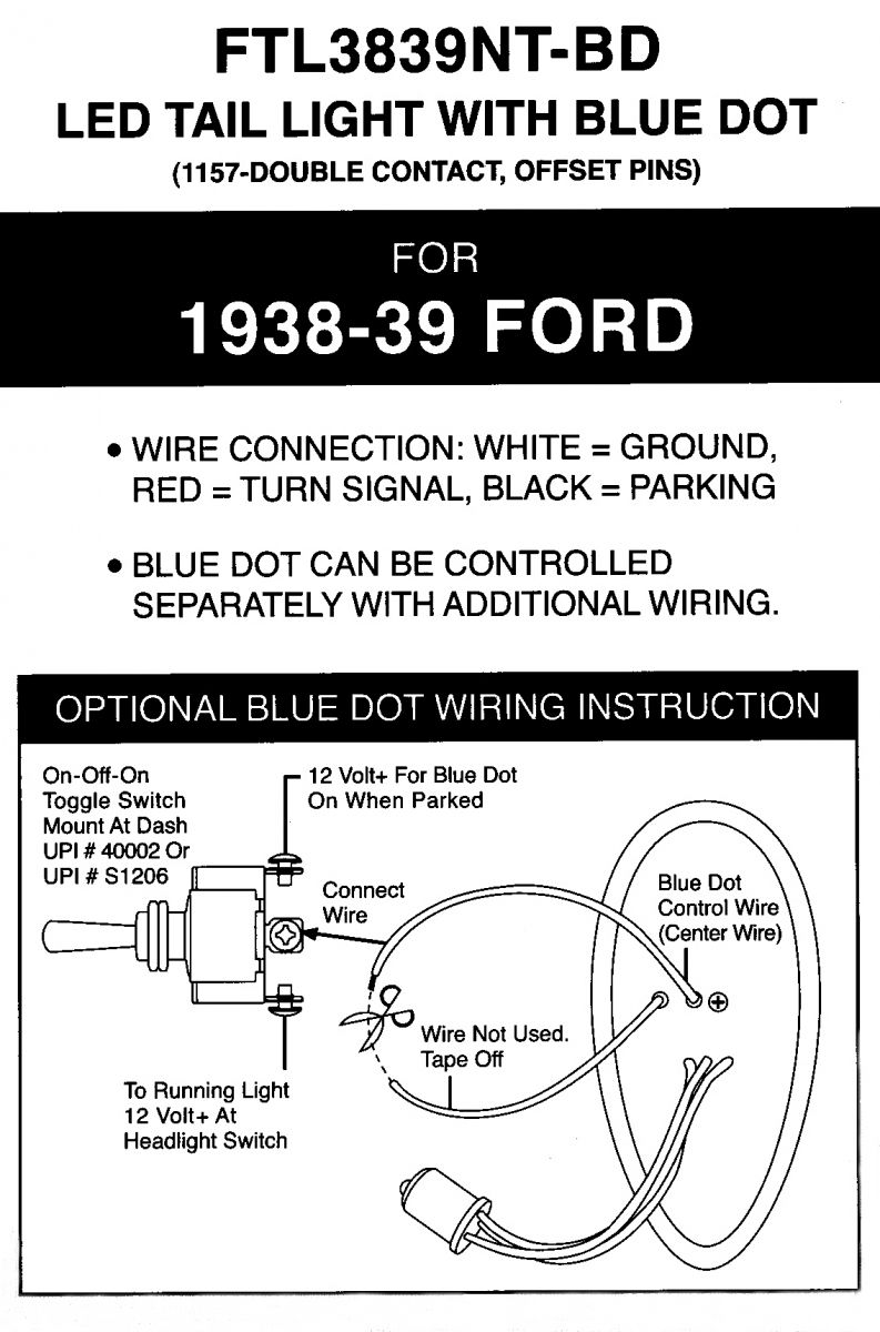 LED Taillight 8(1) led tailights hotrod hotline united pacific headlight wiring diagram at mifinder.co